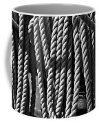 Ropes For The Rigging Bw 1 Coffee Mug