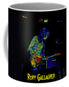 Saturated Blues Rock With Text Coffee Mug