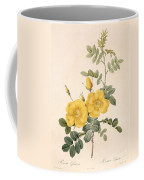 Rosa Eglanteria Coffee Mug by Pierre Joseph Redoute