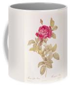 Rosa Gallica Pontiana Coffee Mug by Pierre Joseph Redoute