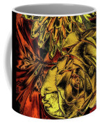 Rose And Lily And Mum With Chrome Effect Coffee Mug