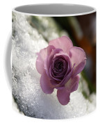 Rose And Snow Coffee Mug