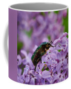 Rose Chafer On Lilac Coffee Mug