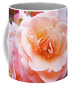 Rose Floral Art Print Peach Pink Roses Garden Canvas Baslee Troutman Coffee Mug