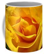 Rose Flower Orange Yellow Roses 1 Golden Sunlit Rose Baslee Troutman Coffee Mug