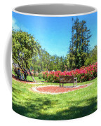 Rose Garden Benches Impressionist Digital Painting Coffee Mug