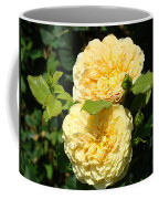 Rose Garden Floral Art Print Yellow Roses Canvas Baslee Troutman Coffee Mug