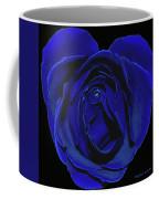 Rose Heart In Blue Velvet Coffee Mug