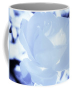 Rose In Light Blue And White Coffee Mug