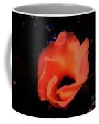 Rose Of Sharon Orange On Black Coffee Mug