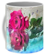 Rose Reflected Fragmented In Thick Paint Coffee Mug