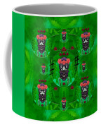 Rose Sugar Skull In Fern Garden Coffee Mug