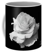 Rose Unfurled In Black And White Coffee Mug