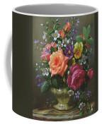 Roses And Pansies Coffee Mug