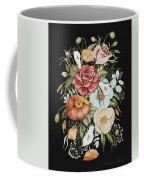 Roses And Poppies Bouquet Coffee Mug