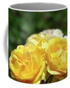 Roses Art Prints Canvas Sunlit Yellow Rose Flowers Baslee Troutman Coffee Mug