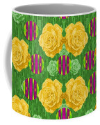 Roses Dancing On A Tulip Field Of Festive Colors Coffee Mug