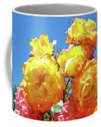 Roses Garden Summer Art Print Blue Sky Yellow Orange Coffee Mug