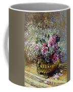 Roses In A Copper Vase Coffee Mug