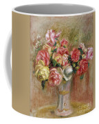 Roses In A Sevres Vase Coffee Mug by Pierre Auguste Renoir
