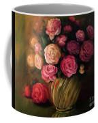 Roses In Brass Bowl Coffee Mug
