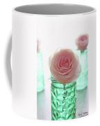 Roses In Green Jars Coffee Mug