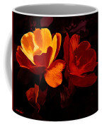 Roses In Molten Gold Art Coffee Mug