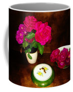 Roses In Vase And Bowl Coffee Mug