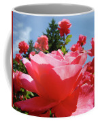 Roses Pink Rose Landscape Summer Blue Sky Art Prints Baslee Troutman Coffee Mug