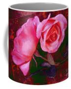 Roses Silked Pink Vegged Out Coffee Mug