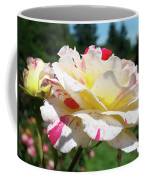Roses White Pink Yellow Rose Flowers 3 Rose Garden Art Baslee Troutman Coffee Mug