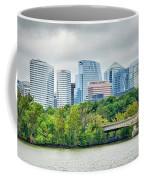Rosslyn Distric Arlington Skyline Across River From Washington D Coffee Mug