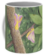 Rosy Maple Moth Gathering Coffee Mug