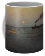 Rosy Moon Off Charleston Harbor Coffee Mug