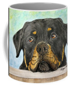 Rottweiler's Sweet Face 2 Coffee Mug by Megan Cohen
