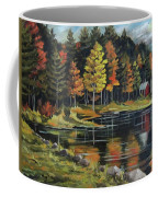 Round Pond Newbury Vermont Plein Air Coffee Mug