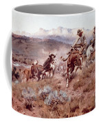 Round Up On The Musselshell  Coffee Mug