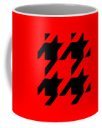 Rounded Houndstooth Black Pattern 02-p0123 Coffee Mug
