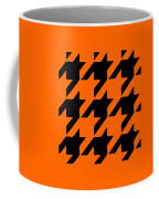 Rounded Houndstooth Black Pattern 03-p0123 Coffee Mug
