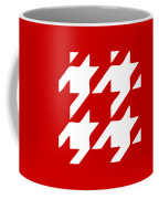 Rounded Houndstooth White Pattern 02-p0123 Coffee Mug