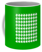 Rounded Houndstooth White Pattern 09-p0123 Coffee Mug
