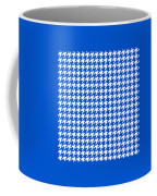 Rounded Houndstooth White Pattern 18-p0123 Coffee Mug
