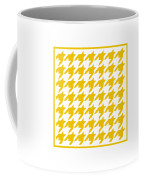 Rounded Houndstooth With Border In Mustard Coffee Mug