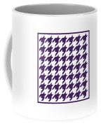 Rounded Houndstooth With Border In Purple Coffee Mug