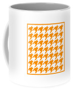 Rounded Houndstooth With Border In Tangerine Coffee Mug
