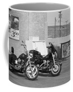 Route 66 Motorcycles Bw Coffee Mug