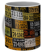 Route 66 Oklahoma Car Tags Coffee Mug