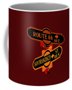 Route 66 Street Sign Stylized Colors Coffee Mug