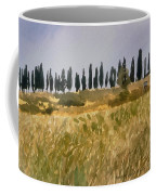 Row Of Cypress Trees, Tuscany Coffee Mug