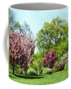 Row Of Flowering Trees Coffee Mug